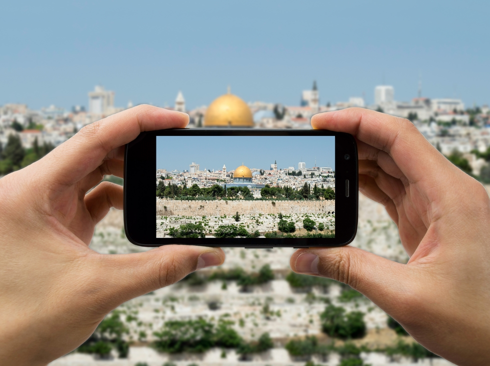 Cell phone with camera in Jerusalem